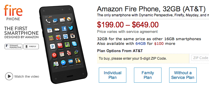 Amazon、独自スマートフォン発表!「スマホ」